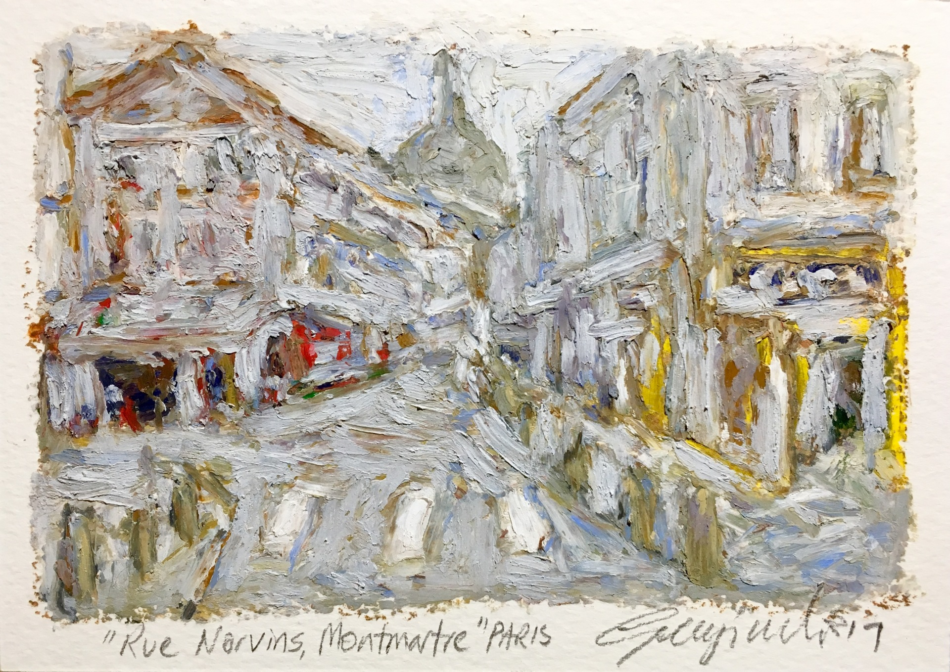 Rue Norvins Montmartre Paris (SOLD)