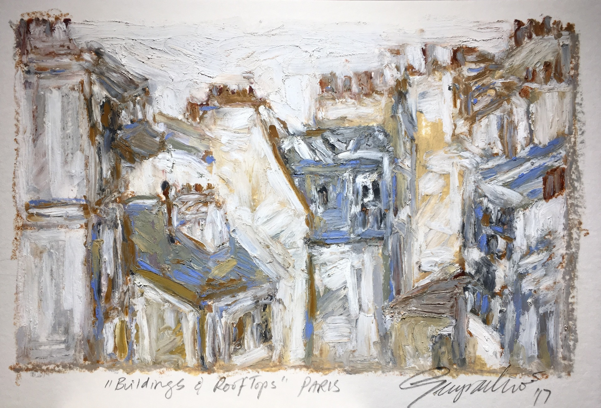 Buildings & Rooftops Paris (SOLD)